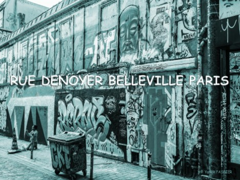 Rue Denoyer Belleville Paris